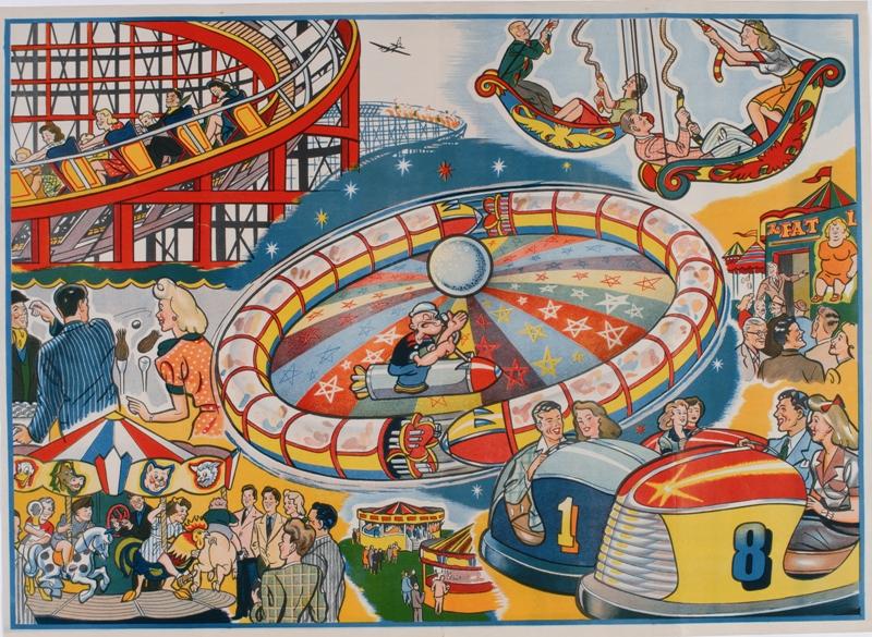 Vintage fairground poster. Spot Popeye! Source: http://www.nfa.dept.shef.ac.uk/images/coll01-01.jpg