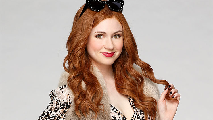 Karen Gillan from the TV show Selfie, where she plays a young medical representative obsessed with social media Source:http://image-cdn.zap2it.com/images/karen-gillan-selfie-doctor-who-ntsf-abc.jpg