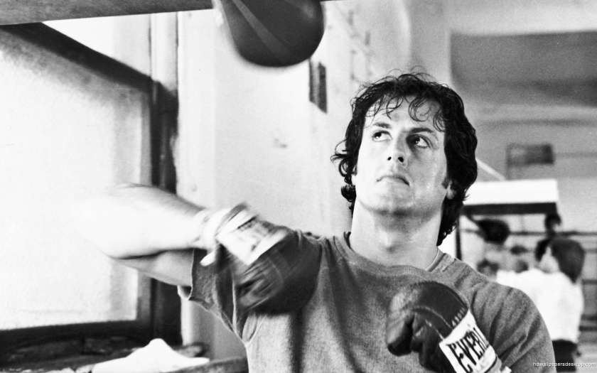 Sylvester Stallone in and as Rocky