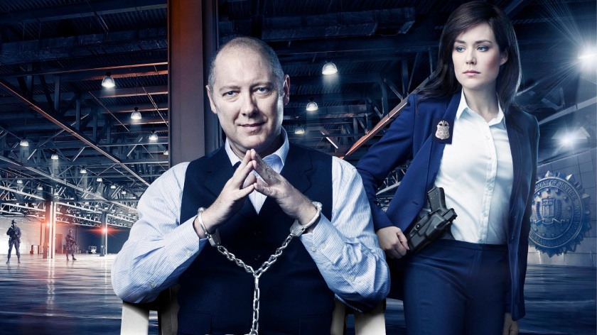 James Spader and Megan Boone on The Blacklist