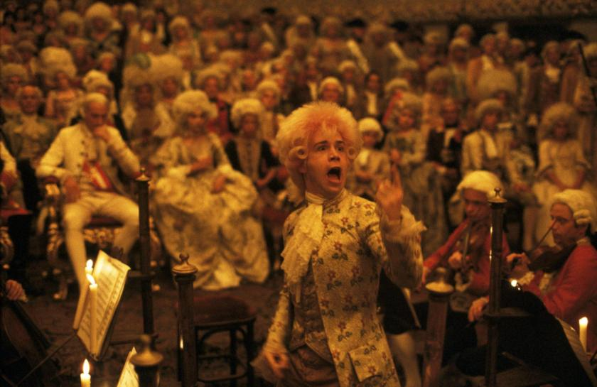 Tom Hulce as Wolfgang Mozart in Amadeus
