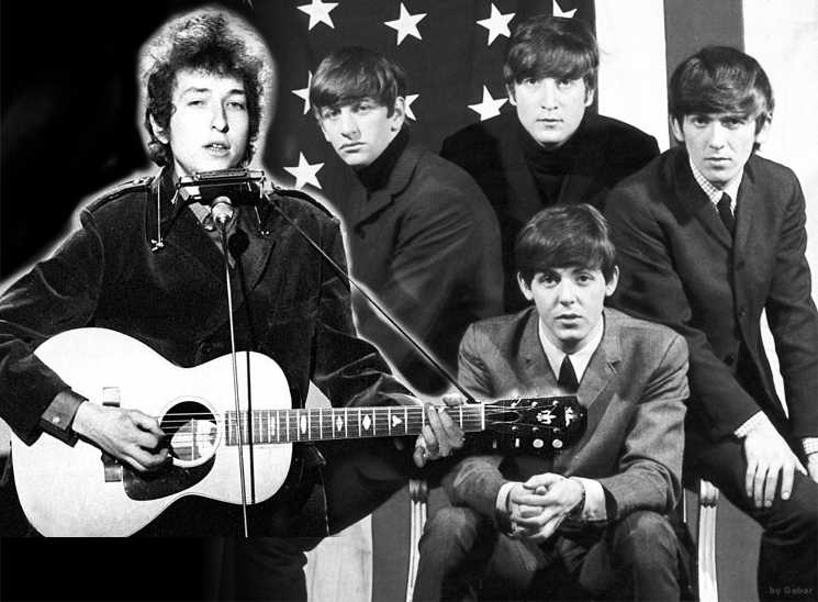 Bob Dylan and The Beatles : Obviously Photoshopped